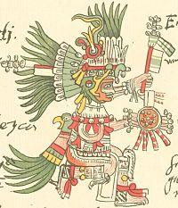 Aztec Culture - Huitzilopochtli - Hummingbird, Sun and War God