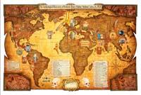 Indiana Jones World Map - by artist Matt Rausch