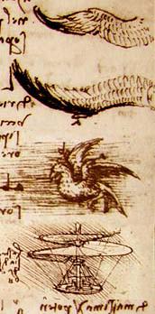 Leonardo da Vinci had flights of fancy