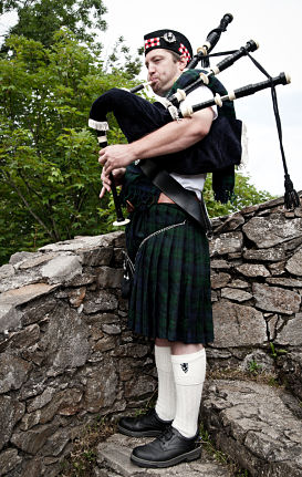 Traditional Bagpiper and Celtic Culture