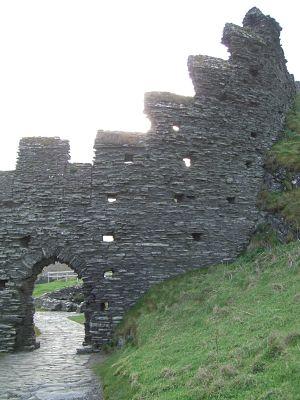 Celtic Remains of Tintagel Castle