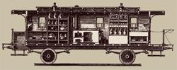 Steampunk Travel- vintage airship drawing